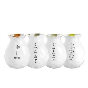 Rae Dunn Classic Bloom Bud Vases - Set of 4